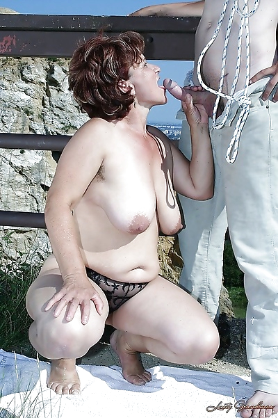 Mature big titted babe..