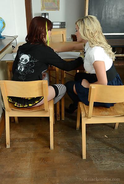 Young schoolgirls Amy Green..