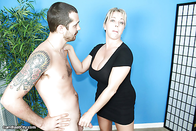 Horny mature with giant..