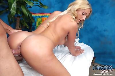 Sweet blonde massage..