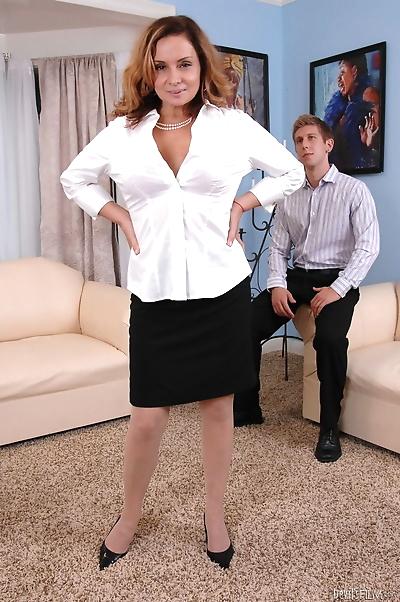 Busty mature Rebecca Bardoux..