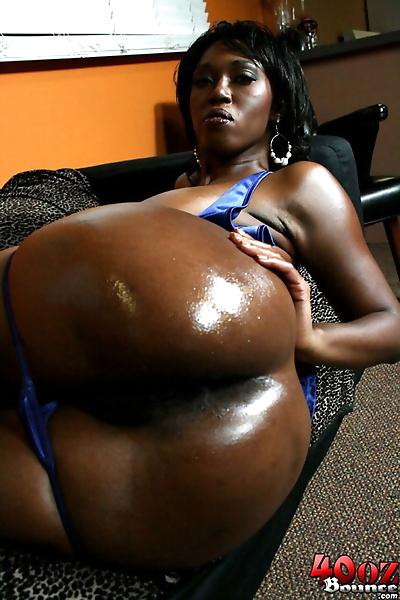 Dark ebony Delotta Brown..