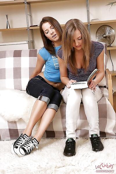 Young lesbian cuties strip..